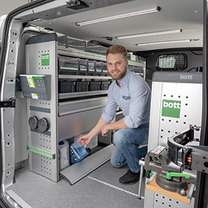 Van racking for service vehicles